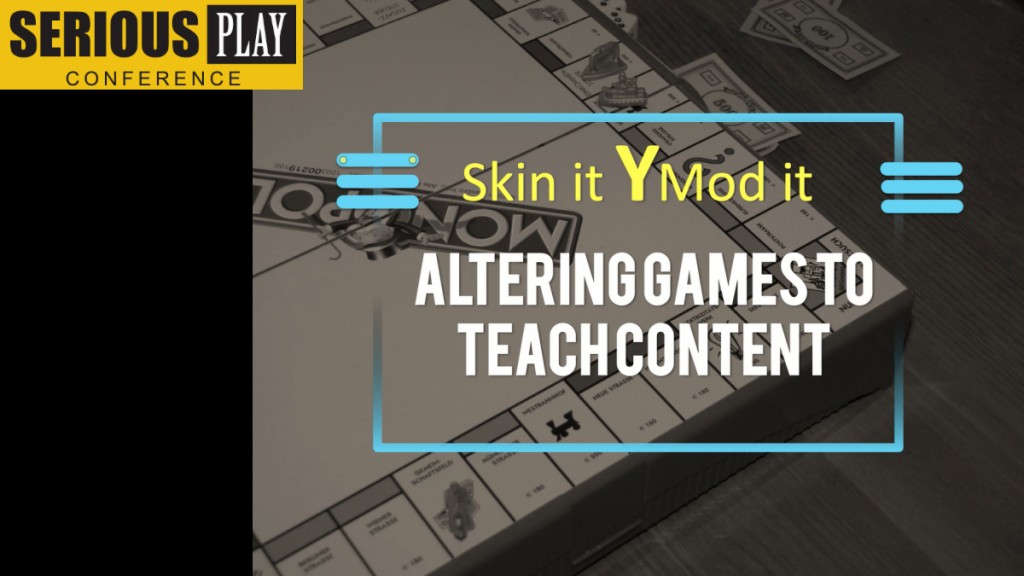 Skin It, Mod It: Students Altering Games to Learn:  AJ Webster, Christy Durham, Sycamore School/Catalyst Learning Hub