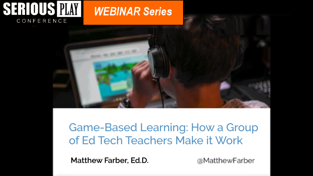How Master Teachers Use Games:  Matt Farber, Valleyview Middle School/New Jersey City University