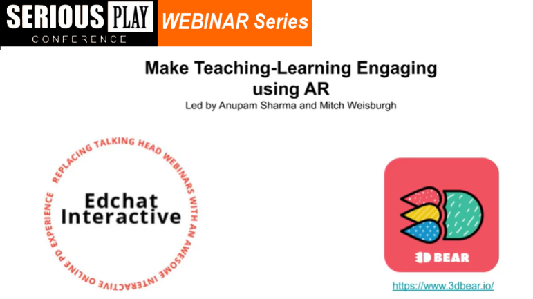 EdChat Interactive: How to Make Teaching Easier, Using Augmented Reality with Anupam Sharma